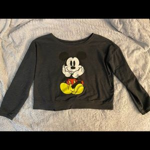 Mickey Mouse Crop Style Long Sleeved Shirt!